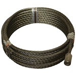 "7/8"" x 80' Roll Off Cable with Button"