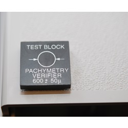 test block for pachymeters