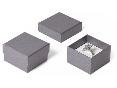 GREY PAPER RING BOX