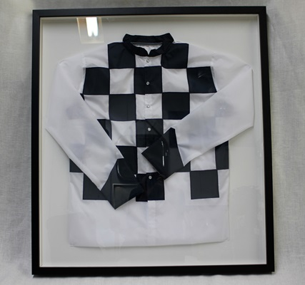 Navy & White  Jockey Picture
