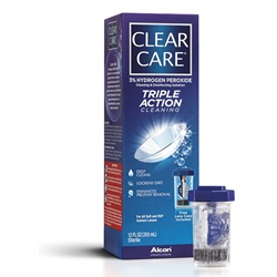 Clear Care Triple Action Contact Lens Solution, 12 oz.
