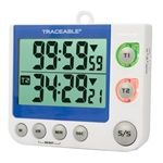 Traceable® Flashing LED Big-Digit Dual Channel Timer (Control Co.)