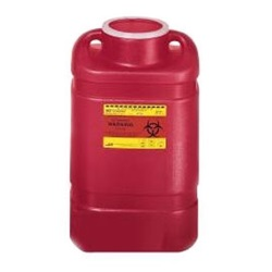 5 Gallon Red Container - Non-Locking Vertical Lid