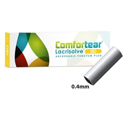Comfortear Lacrisolve 180 Absorbable Punctum Plugs 0.4mm