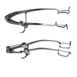 Adult stainless steel Williams eye speculum