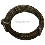 "WIRE ROPE 7/8""X80'W/D-RING"