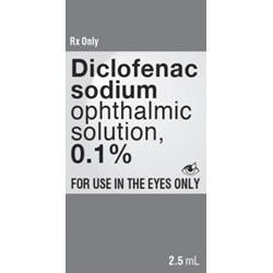 Diclofenac Drops 0.1%, 2.5mL