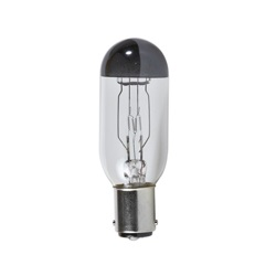 Incandescent Ushio projector light bulb with opaque tip