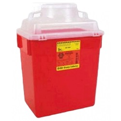 red 6 gallon sharps container