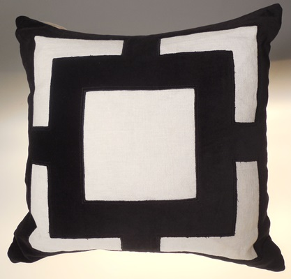 Squared Black and White Pillow