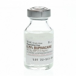 Bupivacaine Injectable 0.75%, 10mL - Preservative Free
