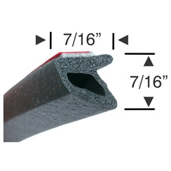 Peel-N-Stick Medium Hollow Triangular with Lip - 15ft