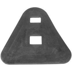 License plate mounting pad