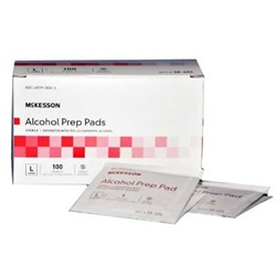 Alcohol Prep Pads Large - McKesson