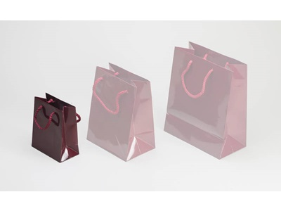 BURGUNDY SHOPPING BAG SMALL