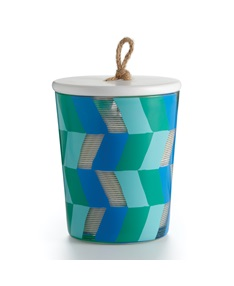 Blue Coral Large Boho Jar