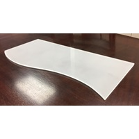 ACRYLIC SMALL CURVED RISER 1/4