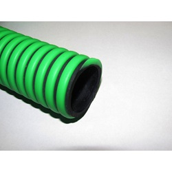 "1 - 1/4"" Green and Black Flex Suction Hose"