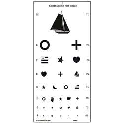 kindergarten eye test with symbols