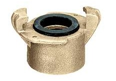 Threaded Coupling, Two Lug Brass