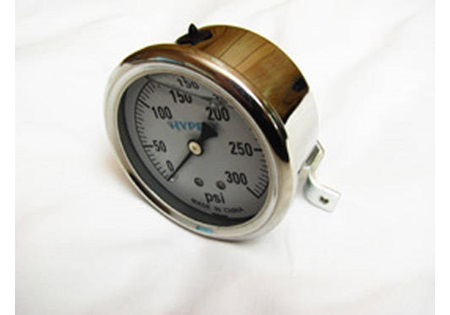 0-300 PSI Glycerin Filled Gauge Back Mounted