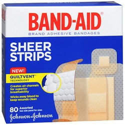 Band-Aid sheer plastic quiltvent bandages