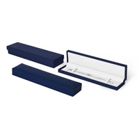 navy blue leatherette bracelet box