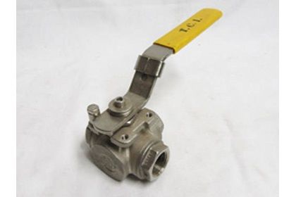 "3/4"" Stainless Steel 3-Way Ball Valve"