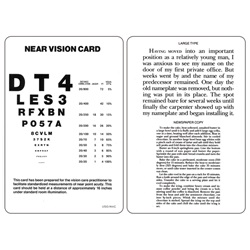 near vision card with text