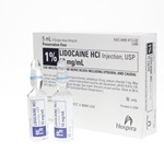 Lidocaine Injectable 1%, 5mL - Preservative Free