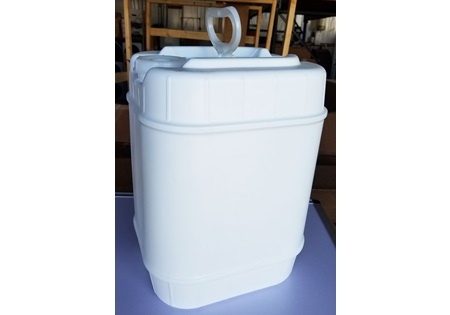 White 5 Gallon Rectangular Jug With Lid