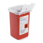 1 Quart Red Container - Locking Hinged Lid