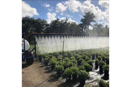 750 Gallon Nursery Sprayer With Long Reach Foldable Boom