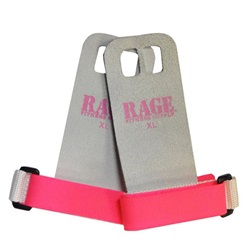 RAGE PINK LEATHER HAND GRIPS