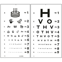 HOTV and allan figure eye test chart