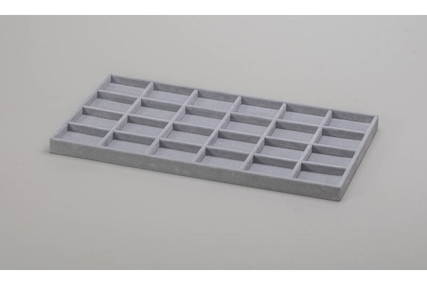 GRAY PP TRAY FOR 24 PADS