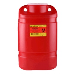 5 gallon red sharp container