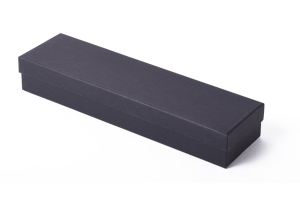 black paper bracelet box with black interior