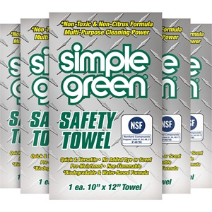 Simple Green® Safety Towels – Individually Wrapped – Set of 5 Towels