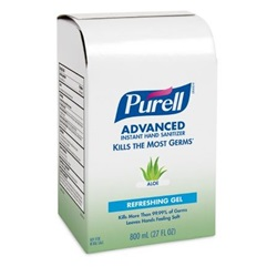 800 mL Purell Aloe Hand Sanitizer - Gel Bag In Box