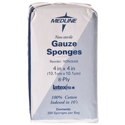 "Gauze Pads - Medline 8 Ply, 4"" x 4"""