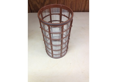 "2"" 16 Mesh Screen Strainer Basket - Black and Brown"
