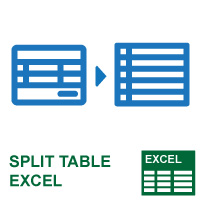 Split Table Excel