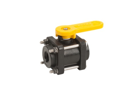 "1/2"" x 1/2"" Banjo Full Port Ball Valve - 4 Bolt"