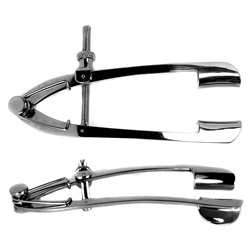 Stainless steel Lancaster eye speculum