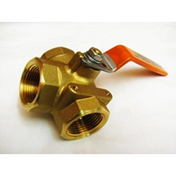 "1"" 3-Way Brass Ball Valve"