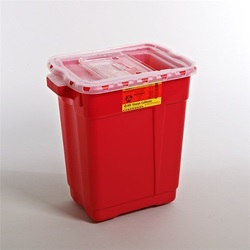 9 Gallon Red Container - Non-Locking Sliding Lid