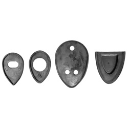 Headlight mounting pad set
