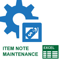 Item Note Maintenance
