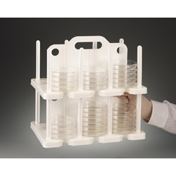 Petri Dish Handled Rack (Bel-Art Scienceware)